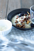 Risotto with chanterelles and blackberries