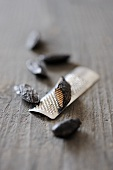 Tonka beans with grater