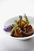 Figs with lavender and honey