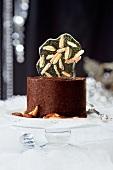 Chocolate dessert for Christmas