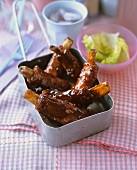 Marinated spare ribs
