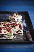 Marzipan, Pistachio and Dried Fruit Squares