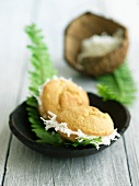 Two Coconut Whoopie Pies; Coconut