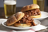 Two Sloppy Joes and a glass of beer