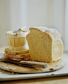 Sliced Homemade Bread Loaf with Butter