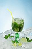 A mojito on ice