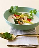 Tom khaa gai (chicken soup with lemon grass), Thailand