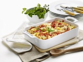 Pasta bake with chicken breast