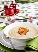 Cream of cauliflower soup at Christmas