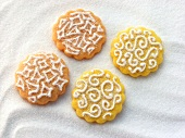 Colourful Sevillanas (Spanish shortbread biscuits)