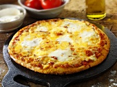 Tomato and mozzarella pizza