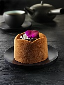 Small chocolate cake to serve with tea