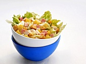 Lettuce with chicken and ham