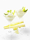 Frozen vodka lemon