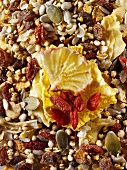 Gluten free muesli with wolfberries and yucca