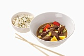 Beef curry with rice (Asia)