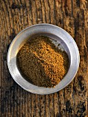 A plate of garam masala (seen from above)