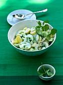 Cucumber salad with potatoes