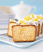 Sliced pineapple and coconut cake