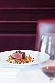 Fillet of Angus beef with Anna potatoes and vegetables