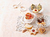 Various Christmas biscuits