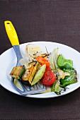 Oven-roasted summer vegetables