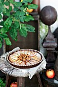 An apple and walnut tart
