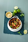 Lamb stew with limes