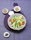 Frisee lettuce with crispy buckwheat