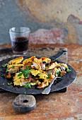 Pilzschmarrn (shredded mushroom pancake)