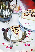 Cheese cake with cherries
