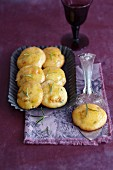 Apricot biscuits with rosemary