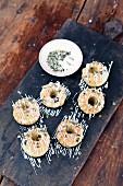 Mini pumpkin and nut Bundt cakes