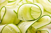 Cucumber strips (close-up)