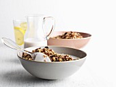 Mixed muesli with milk