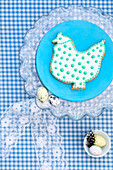 An Easter biscuit (a spotted hen)