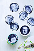 Sticker photos as Easter gifts