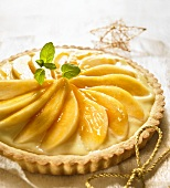A pear and marzipan tart for Christmas
