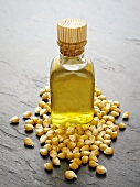 Corn oil and corn kernels