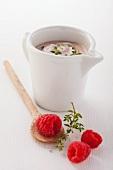 Raspberry sauce with mustard