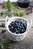 Blueberries in basket