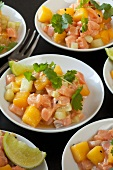 Salmon and mango salad