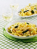 Tagliatelle with green asparagus and pecorino
