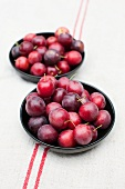 Bowls of plums