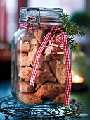 Cardamom biscuits in a jar as a gift
