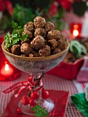 Köttbullar (Swedish meatballs) for Christmas dinner