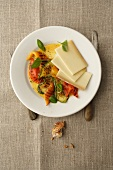 Gruyere and grilled peppers