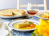 Almond tart with kumquats