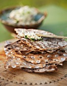 Grilled crisp breads brushed with olive oil
