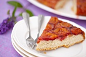 A slice of plum tart